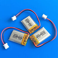 3 pcs 3.7v 200mAh Li Po Battery for MP3 GPS Headphone 402030 JST 2.5 Connector