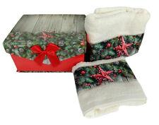 Idea regalo Buon di Natale confezione Porta Gioie con set di asciugamani