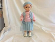 Kader doll 13inch made in hong kong, twist wrists, sleep eyes and plastic lashes
