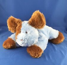 """Carters Blue Puppy Dog Plush NEW NO TAGS Laying Dots 10"""" Baby Stuffed Animal Toy"""
