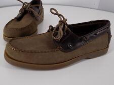 EUC  MAINSAIL  2-eye boat shoes 9M, classic boat shoe styling & materials