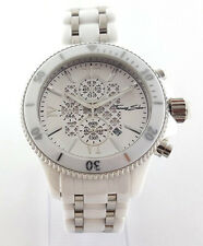 Thomas Sabo Chronograph Uhr UVP-598,00 € Rebel Ceramic Weiß 44mm WA0067-206-202