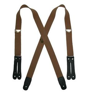 New Welch Men's Elastic Button End Double Face Suspenders
