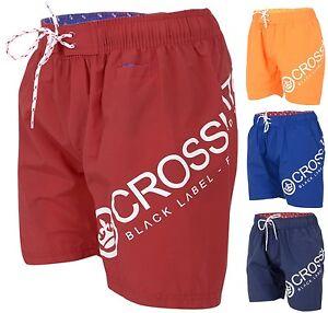 Mens Crosshatch Designer Swim Shorts New Mesh Lined Casual Beach Swimming Trunks