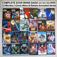 COMPLETE STAR WARS SAGA on DVD, 12 Movies + CLONE & REBELS Animated TV Series