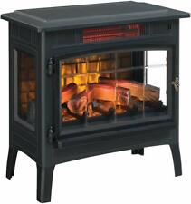 Electric Infrared Quartz Fireplace Stove 3D Flame Effect
