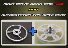 Main Drive Gear CNC & Autorotation Tail Drive Gear for T-Rex 450 V2,Pro,Sport