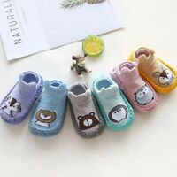 Newborn Baby Girls Boys Cartoon Animal Anti-Slip Socks Shoes Slipper Crib Shoes