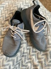 Nice Boys Size 10 Toddler Tennis Nike Shoes Gray And White!