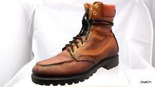 VINTAGE WALKER USA MADE BROWN LEATHER MOC TOE INSULATED PAD COLLAR BOOTS MENS 8