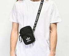 Adidas Originals Mini Shoulder Strap Festival Bag Crossbody Black White New