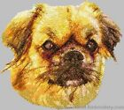 Embroidered Short-Sleeved T-Shirt - Tibetan Spaniel DLE2531 Sizes S - XXL