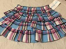 NWT Kellys Kids Berry Multi Plaid Twill Ruffle Skirt Size 3-4 3T 4T MSRP $38