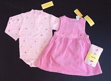 NWT Gymboree Sweets for the Sweet 18-24 Cupcake Bodysuit Corduroy Jumper Tights