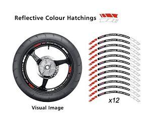 HRC HONDA RACING REPSOL RED  REFLECTIVE MOTORCYCLE WHEELSTICKERS RIM VINYL 011