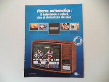 advertising Pubblicità 1976 TELEVISORE GRUNDIG SUPER COLOR 5200