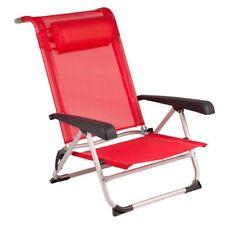 Red Mountain Silla de Playa Aluminio Verde/Rojo Respaldo Ajustable 8 Posiciones