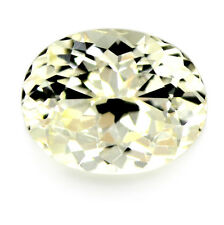 Certified Natural Sapphire 1.02ct Light Yellow Flawless Portuguese Cut Oval Gem