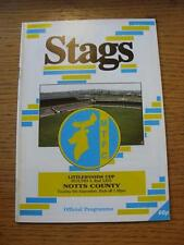 06/09/1988 Mansfield Town v Notts County [Football League Cup] . Item In very go