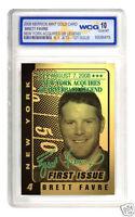 BRETT FAVRE AUTOGRAPHED LIMITED EDITION 2008 23KT GOLD CARD GEMMT 10! QB LEGEND!
