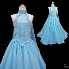 New Girl Pageant Wedding Graduation Flower Girl Formal Dress 7 8 10 12 14 Blue
