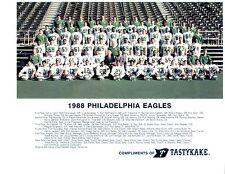 1988 PHILADELPHIA EAGLES TEAM 8X10  PHOTO  FOOTBALL NFL CUNNINGHAM HOF
