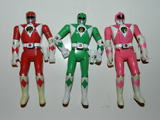 Vintage Power Rangers Figure Lot Figures 90's Flip Head