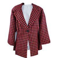 Lane Bryant Blazer Womens Plus Size 22 Jacket Suit Plaid Red Tweed Career Lined
