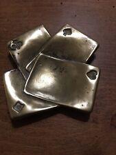 Cendrier Collection Bronze Laiton Carré D'as , Pour Joueur De Poker ♦️ ♠️ ♥️