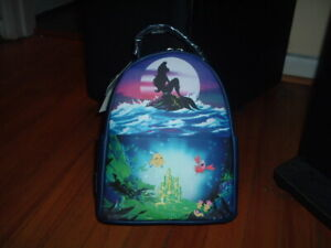 LOUNGEFLY DISNEY LITTLE MERMAID SCENE MINI BACKPACK~ WITH TAGS~BRAND NEW~