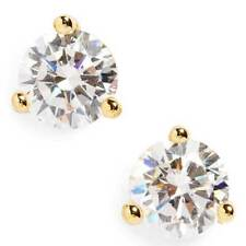 Round Cut 2.00 ct Man Made Diamonds 14K Yellow Gold Over Martini Style Earrings