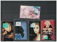 Barbra Streisand Neil Diamond Celine Dion Madonna Cassette Lot of 5