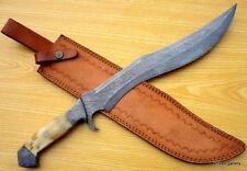 CUSTOM-DEMASCUS-STEEL-HUNTING-KNIFE