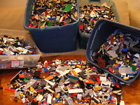 2 Pounds Of LEGO'S Bulk Lot Brick Parts Pieces 100% Lego Star Wars, City, Etc.