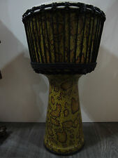 "60CM LEOPARD SKIN PRO AFRICAN  ELITE DJEMBE DRUM - 12"" HEAD, HAND MADE IN BALI"