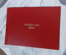 New! General Aviation  Aircraft Engine Maintenance Red Log Book, NOSl