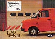 Ford Transit Van Bus Kombi Chassis Cab Original UK Sales Brochure FB661 1981-82