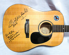 Bret Michaels Signed w/ 4x Inscriptions Poision Full Size Acoustic Guitar COA