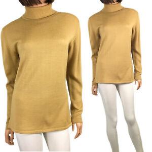 Vintage 80's Tan Turtleneck Sweater M Classic Woman's Wool Blend JHC JR House