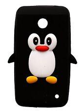 Silicone Nero Pinguino Custodia per telefono / COVER PER NOKIA LUMIA 630