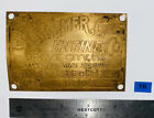 20HP BESSEMER Brass Tag Name Plate Hit Miss Gas Engine