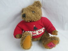 LANE BRYANT 1997 COLLECTOR BEAR STUFFED TEDDY NUBBY FUR UGLY CHRISTMAS SWSWEATER