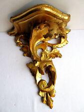 Console murale vénitienne, bois sculpté doré, Acanthes: Napoléon III