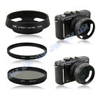 JJC Metal Lens Hood + 58mm UV CPL Filters for Panasonic Lumix G 20mm f/1.7 ASPH