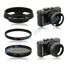 JJC Metal Lens Hood +58mm UV CPL Filter for Panasonic Lumix G 20mm f/1.7 II ASPH