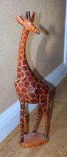 Hand wood carving of Giraffe - taller size