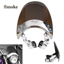 Smoked Motorcycle Street Windshield Hardware Universal For Harley Honda   Yamaha