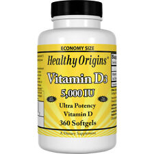Healthy Origins Vitamin D3 5,000 IU 360 Softgels