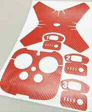 Sticker Decal Wrap Skin For DJI Phantom 4+Battery+REMOTE red Carbon Fiber