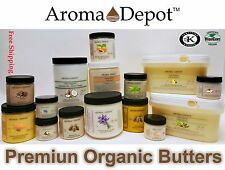 Premium Organic Butters 100% Pure RAW Fresh Natural Cold Pressed HAIR SKIN BODY